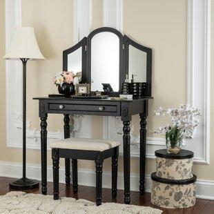 House of Hampton Novinger Vanity Set with Mirror