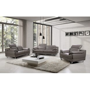 Orren Ellis Waco 3 Piece Living Room Set