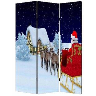 Screen Gems Christmas 3 Panel Room Divider