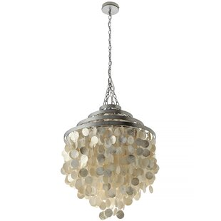 Modern contemporary oyster shell chandelier allmodern save to idea board aloadofball Image collections