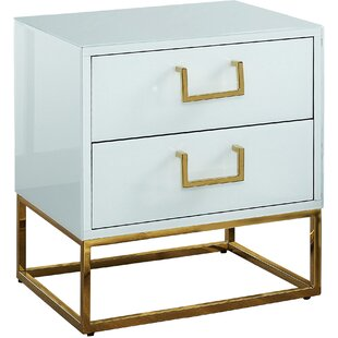 Everly Quinn Kemble 2 Drawer Nightstand