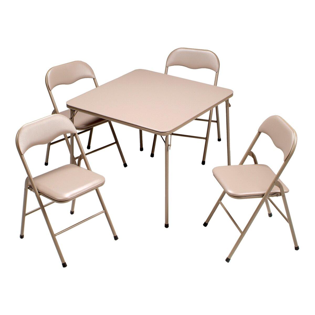 Square folding tables - 5 Piece 34 Square Folding Table Set
