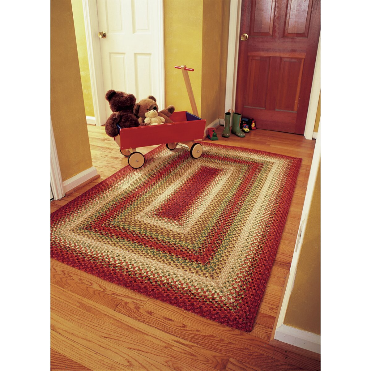 cotton braided sante fe sunrise area rug - Homespice Decor