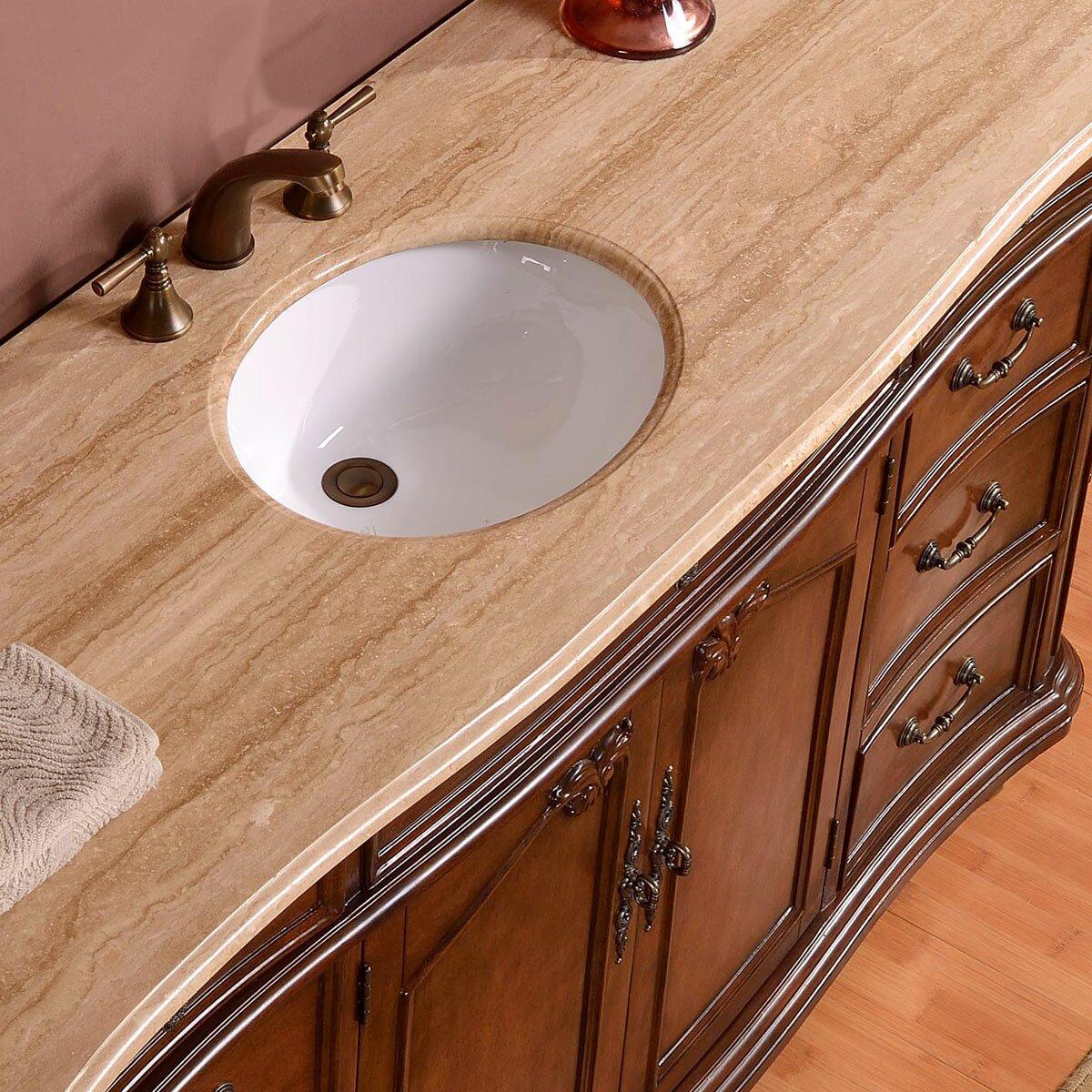 Silkroad Exclusive Single Sink Cabinet Bathroom Vanity Set 72 Inch Vanity Single Sink