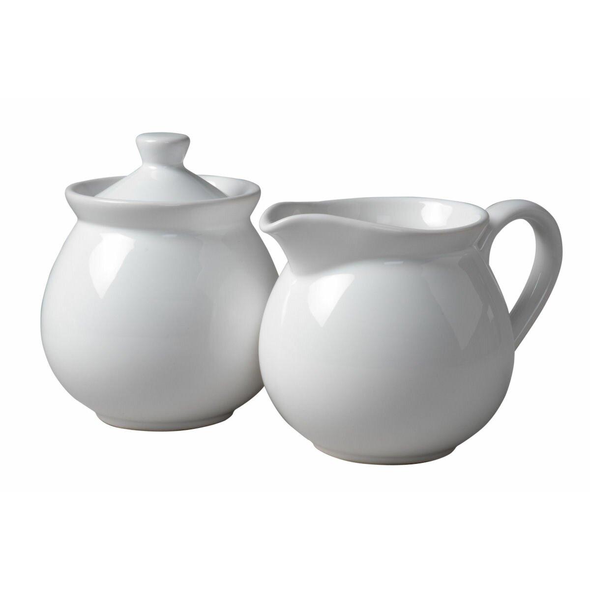 creamer and sugar set - red barrel studio chartridge piece sugar bowl creamer set