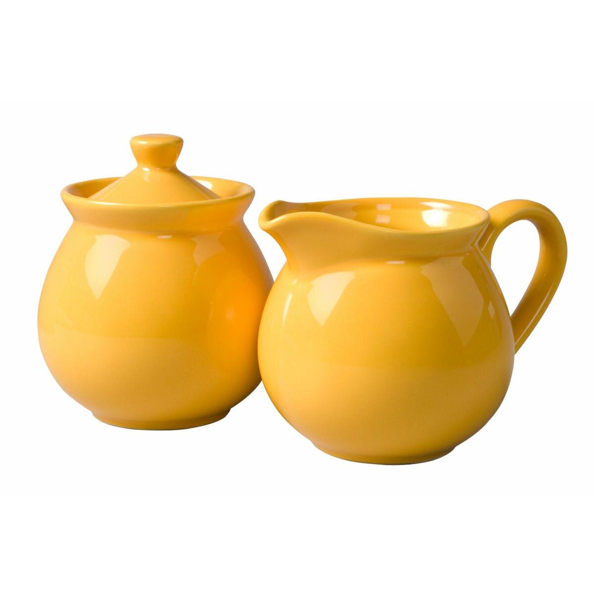 Yellow sugar bowls with lids - Chartridge 2 Piece Sugar Bowl Creamer Set
