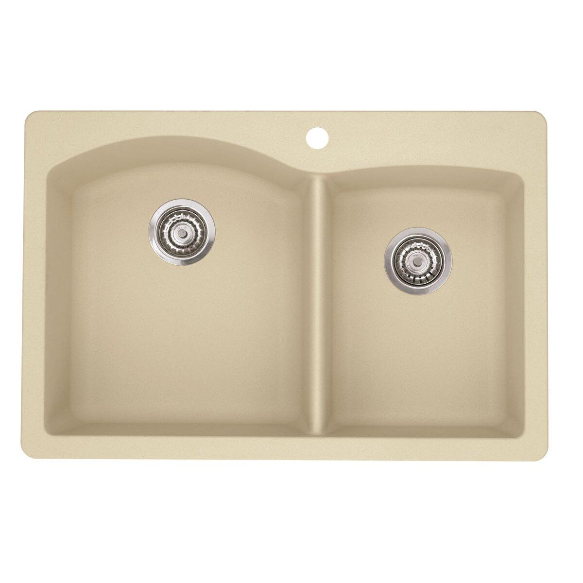 diamond 33 x 22 bowl drop in kitchen sink - Kitchen Sink Drop In