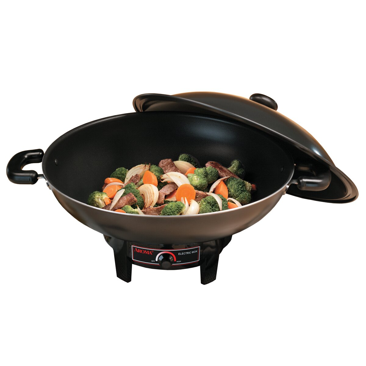 Aroma 6.5 Quart Electric Wok with Tempura Rack & Reviews | Wayfair