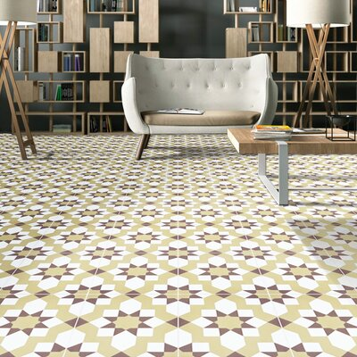 Affos 8 x 8 Cement Field Tile Moroccan Mosaic Color: Dark/Light Brown