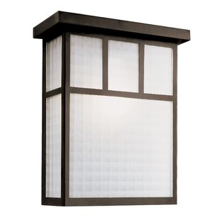 Millwood Pines Calhoun 2-Light Outdoor Flush Mount