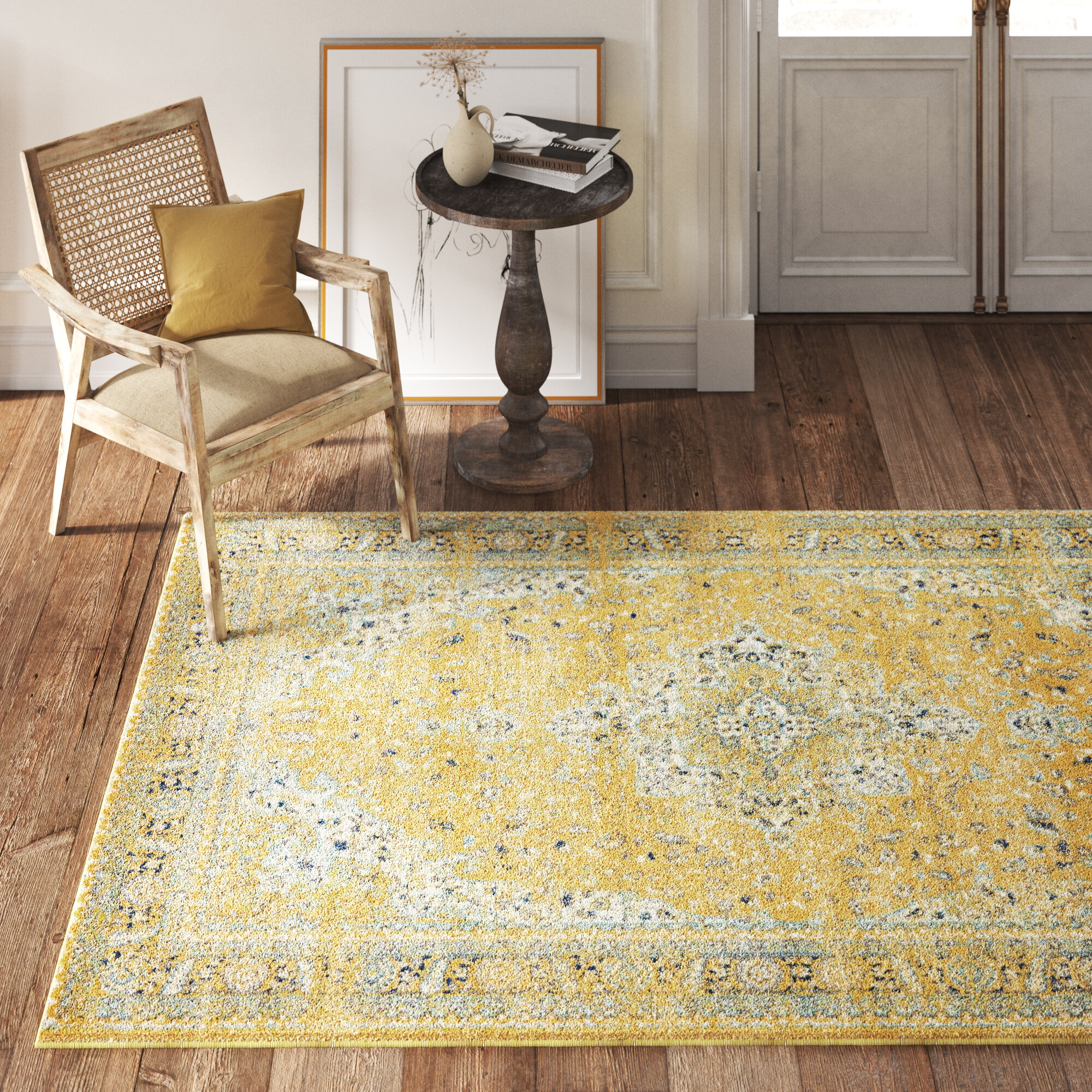 8 X 10 Yellow Gold Area Rugs You Ll Love In 2021 Wayfair