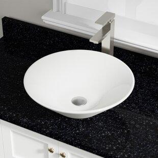 Vitreous China Circular Vessel Bathroom Sink ByMR Direct