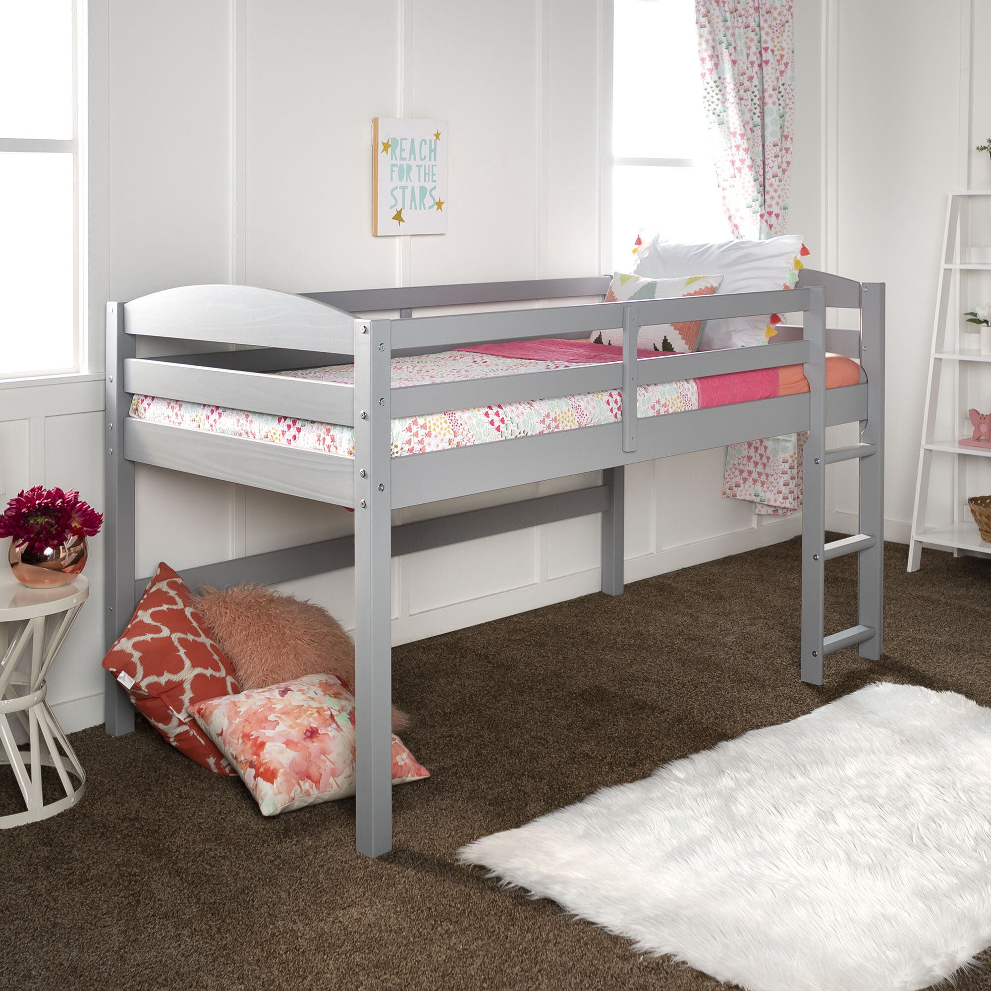 Picture of: Dupuis Twin Low Loft Bed Reviews