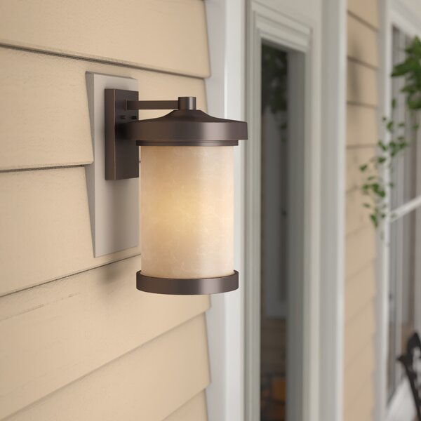Alcott Hill Thorpe Mahogany Bronze 1 Bulb Outdoor Armed Sconce Reviews Wayfair