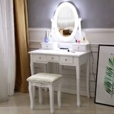 Danville Vanity Set with Stool and Mirror by Ophelia & Co.