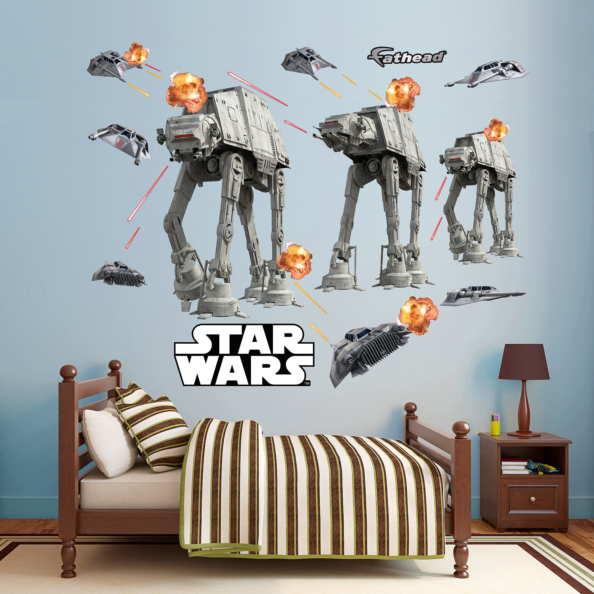 Fathead Star Wars Lucas Battle Of Hoth Peel And Stick Wall Decal