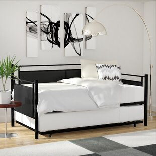 Callicoat Metal and Upholstered Twin Daybed with Trundle