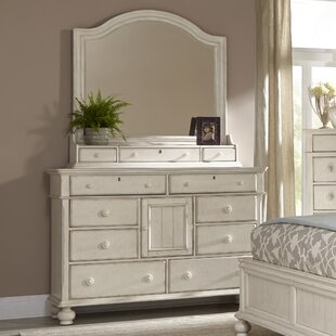 Affordable Newport 11 Drawer Dresser with Mirror by American Woodcrafters