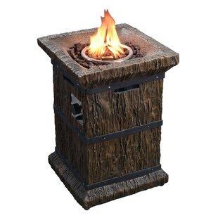 Peaktop Outdoor Wood Grain Propane Gas Fi..