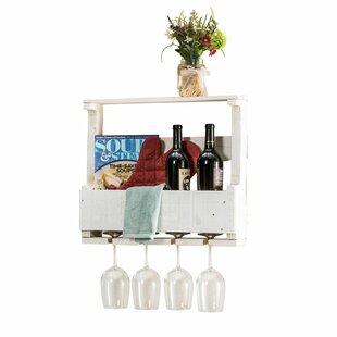Del Hutson Designs 4 Bottle Wall Mounted Wine Rack