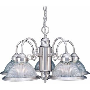 Volume Lighting Roth 5-Light Shaded Chandelier