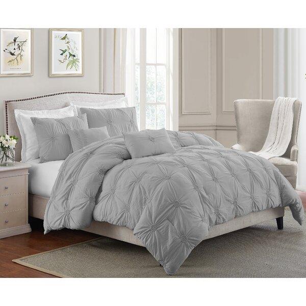 Rosdorf Park Tierra Floral Pintuck Comforter Set Reviews Wayfair