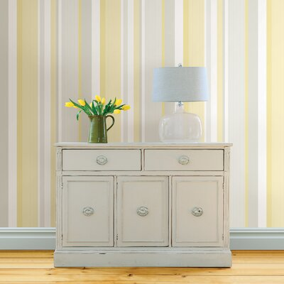 Awning Stripe Peel And Stick Wallpaper WallPops! Color: Yellow
