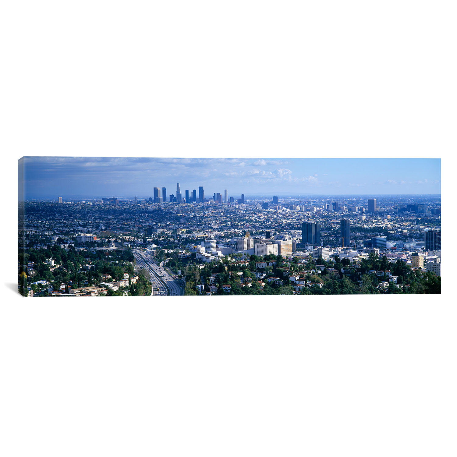 Icanvas Panoramic Aerial View Of A City Los Angeles