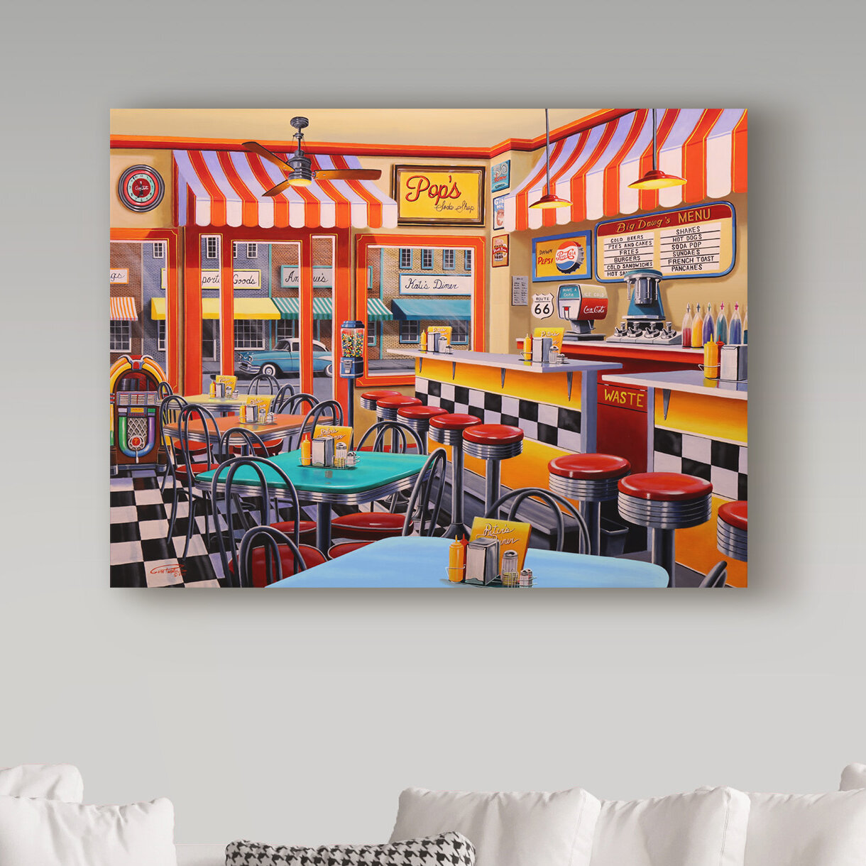 'Peters Malt Shop' Oil Painting Print on Wrapped Canvas on french country kitchen theme, french country kitchens beautiful, french country custom kitchen, french breakfast room ideas, french country kitchen on a budget, french country kitchen decor, french country small kitchen, french country kitchen backsplash, french country kitchen curtain, french country kitchen cabinets, french country kitchen lighting, french country kitchen accessories, french country pantry, french country dream kitchen, french country kitchen handles, french country modern kitchen, french country kitchen table, french country granite, french kitchen window, french kitchen looks,