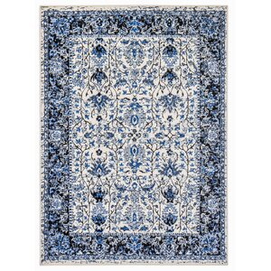 Royalwood Traditional Blue/Beige Area Rug