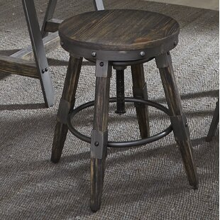Caloundra Adjustable Height Swivel Bar Stool (Set of 2) by Williston Forge