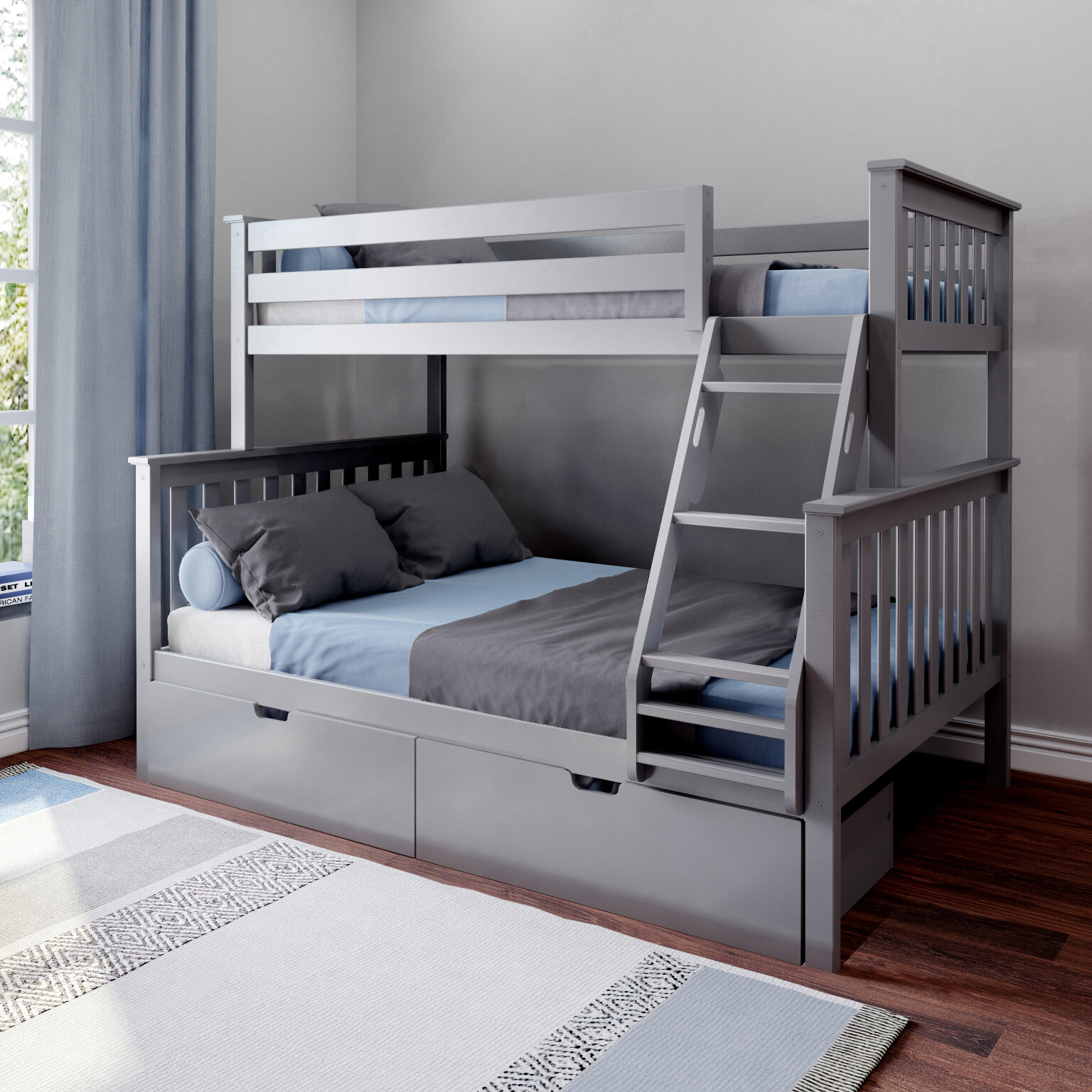 Grey Twin Over Full Bunk Beds You Ll Love In 2021 Wayfair