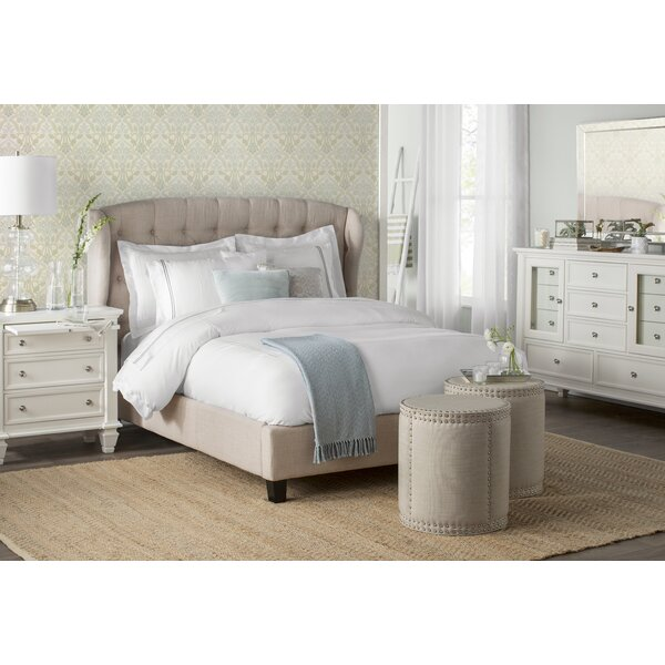 Three Posts Maryport Upholstered Panel Bed & Reviews by Three Posts