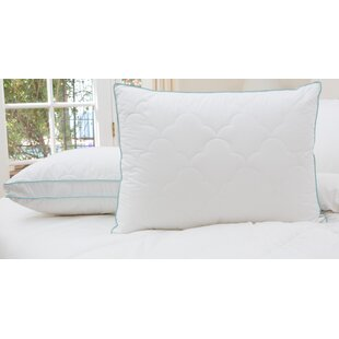 2 Pack Scallop Cloud Quilted Gusset Down Alternative Pillows (Set of 2)