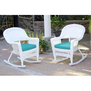 Bon Burtch Wicker Rocking Chairs (Set Of 2)