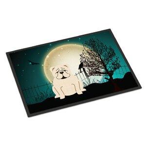 Halloween Scary English Bulldog Doormat