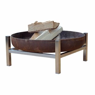 Quane Stainless Steel Charcoal/Wood Burning Fire Pit By Sol 72 Outdoor
