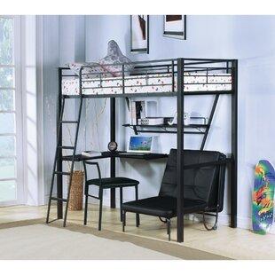 Sutphin Contemporary Metal Twin Loft Bed ByHarriet Bee