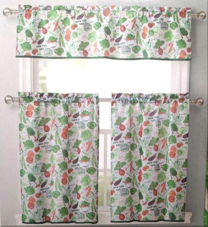 Vegetable Garden Kitchen Curtains