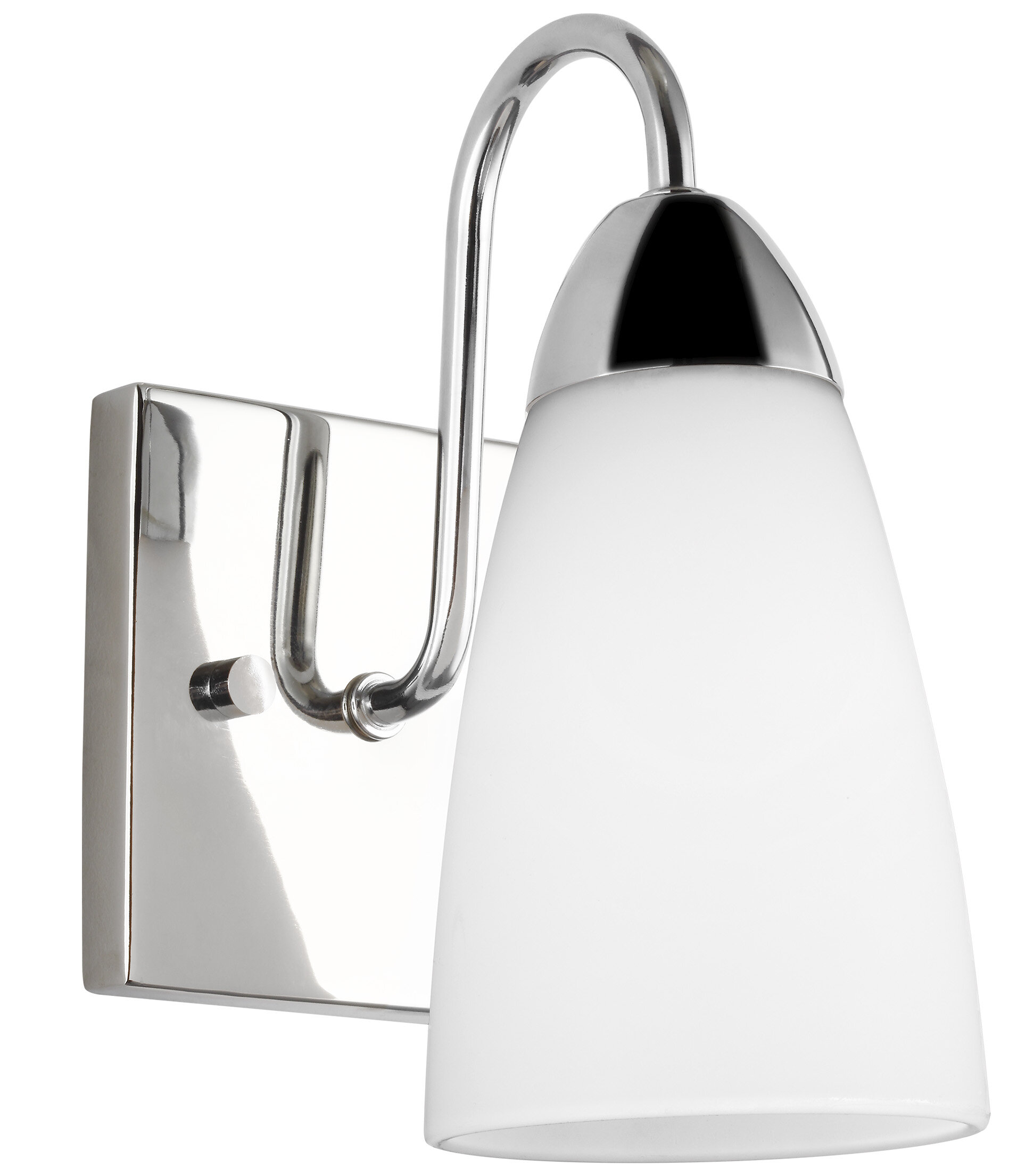 Ainsdale 1 Light Dimmable Chrome Armed Sconce Joss Main