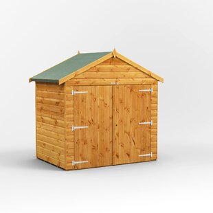 6 Ft. W X 4 Ft. D Shiplap Apex Wooden Bike Shed By WFX Utility