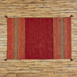 Fogarty Hand-Woven Red Area Rug by Birch Lane?