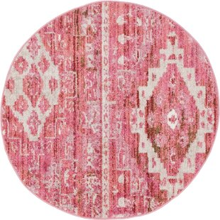 Bearden Pink Area Rug by Bungalow Rose
