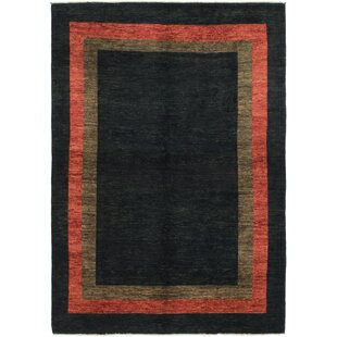 Compare & Buy One-of-a-Kind Nash Hand-Knotted 5'6 x 7'9 Wool Black Area Rug By Isabelline