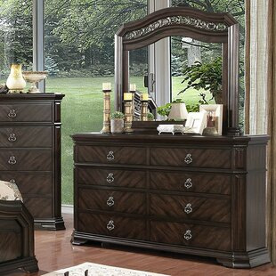 Fye 8 Drawer Double Dresser with Mirror