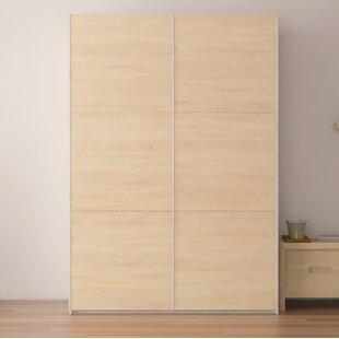 Brayden Studio Zastrow Wood Armoire with Sliding Doors