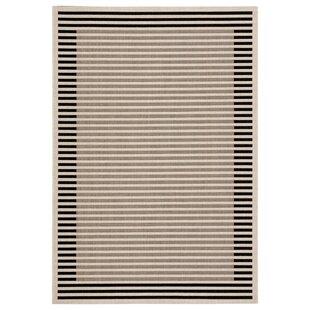 Naswith Stripes Beige/Black Indoor/Outdoor Area Rug