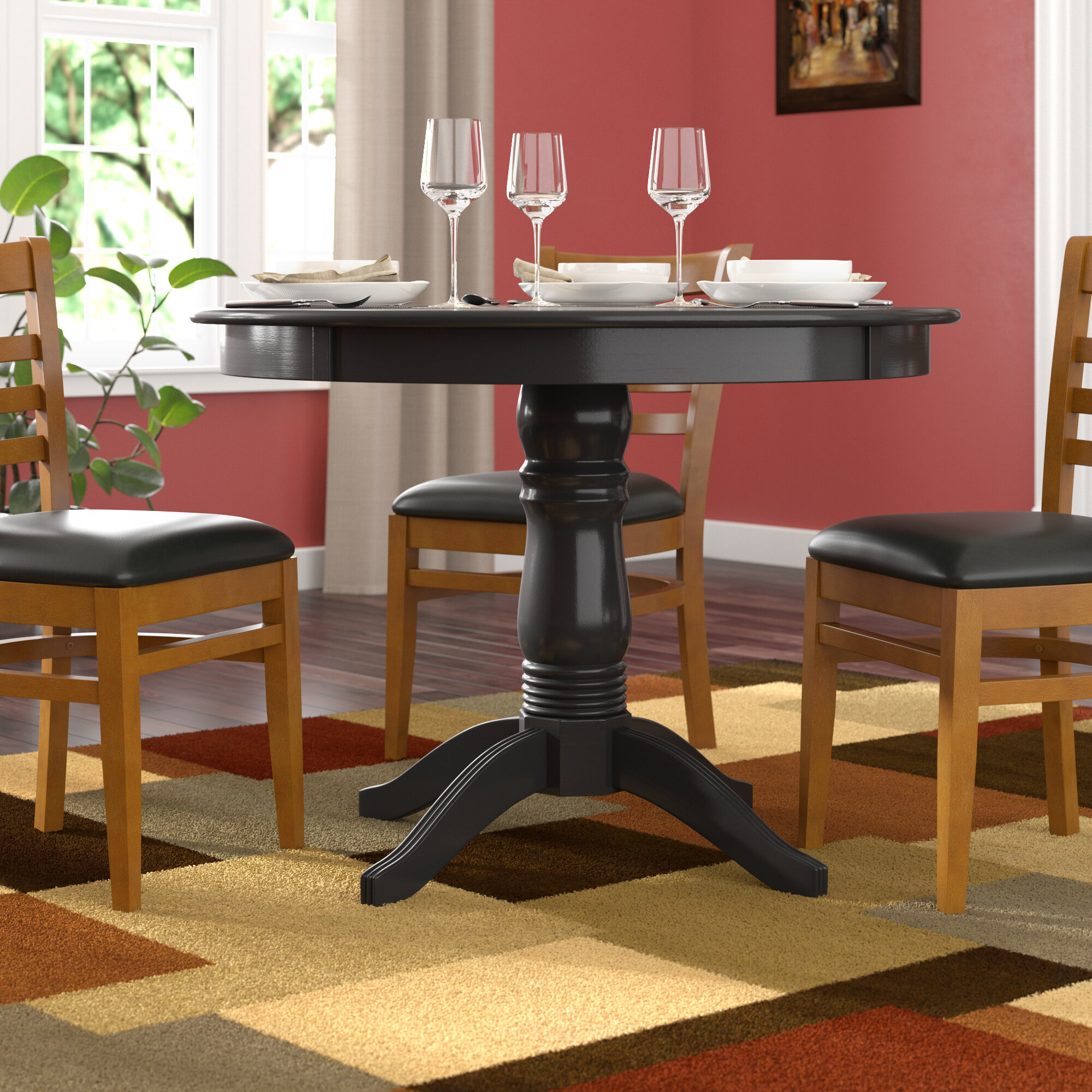 Andover Mills™ Oneill Solid Wood Dining Table & Reviews | Wayfair