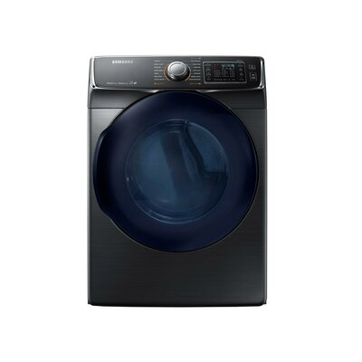 7.5 cu. ft. High Efficiency Gas Dryer Samsung Color: Black Stainless Steel