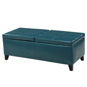 Jefferson Leather Storage Ottoman